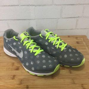 Nike Neon Polka Dot Sneakers Women Sz 9n Like New
